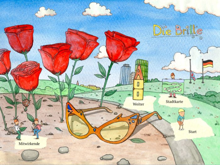Die Brille Startmenü Kinderapp
