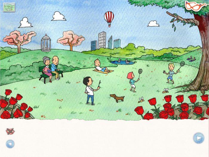 Die Brille - Handgezeichnete Kinderbuch-App | Apps für Kinder image 2