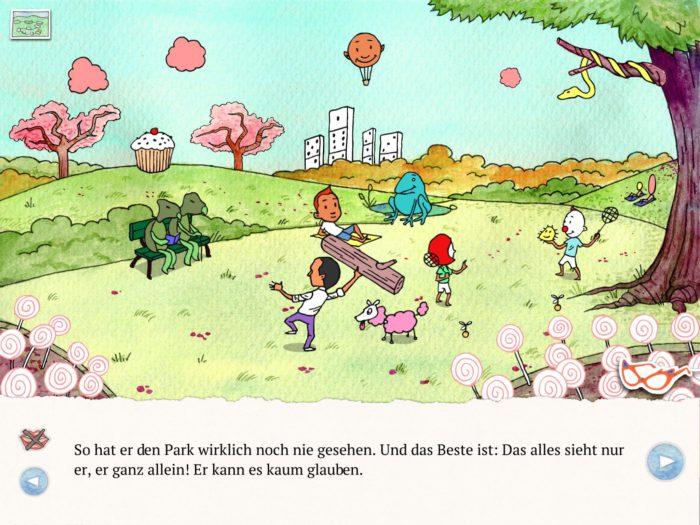 Die Brille - Handgezeichnete Kinderbuch-App | Apps für Kinder image 3